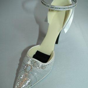 Latin Silver Sandal Jewellery Holder