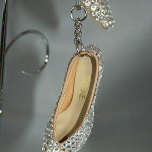 Rhinestone Ballroom Shoe Keyring