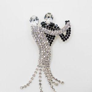 Crystal Ballroom Dancers Brooch
