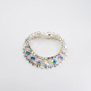 Medium Three-row Rhinestone Bracelet