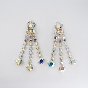 Vintage Inspired Cascade Rhinestone Earrings