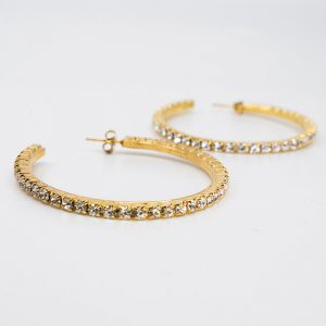 Rhinestone Hoop Earrings 1