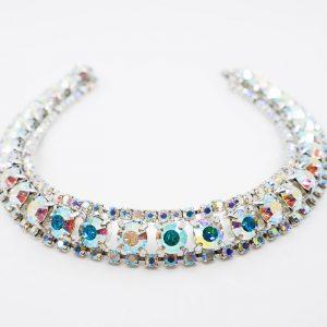 Three-row Rhinestone Necklace