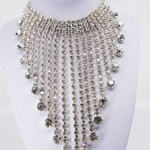Stunning 21-Drop Cascade Necklace