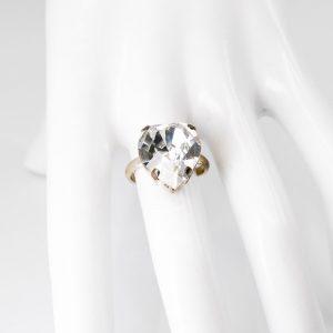 Crystal Heart Shaped Ring