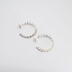 Rhinestone Hoop Earrings 2